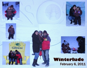 Two weeks after Jesus healed Rathi, she was out having fun with her family at Winterlude 2011!